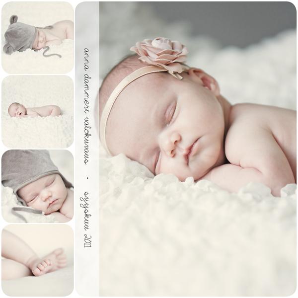 kuvakollaasi nukkuvasta vauvasta