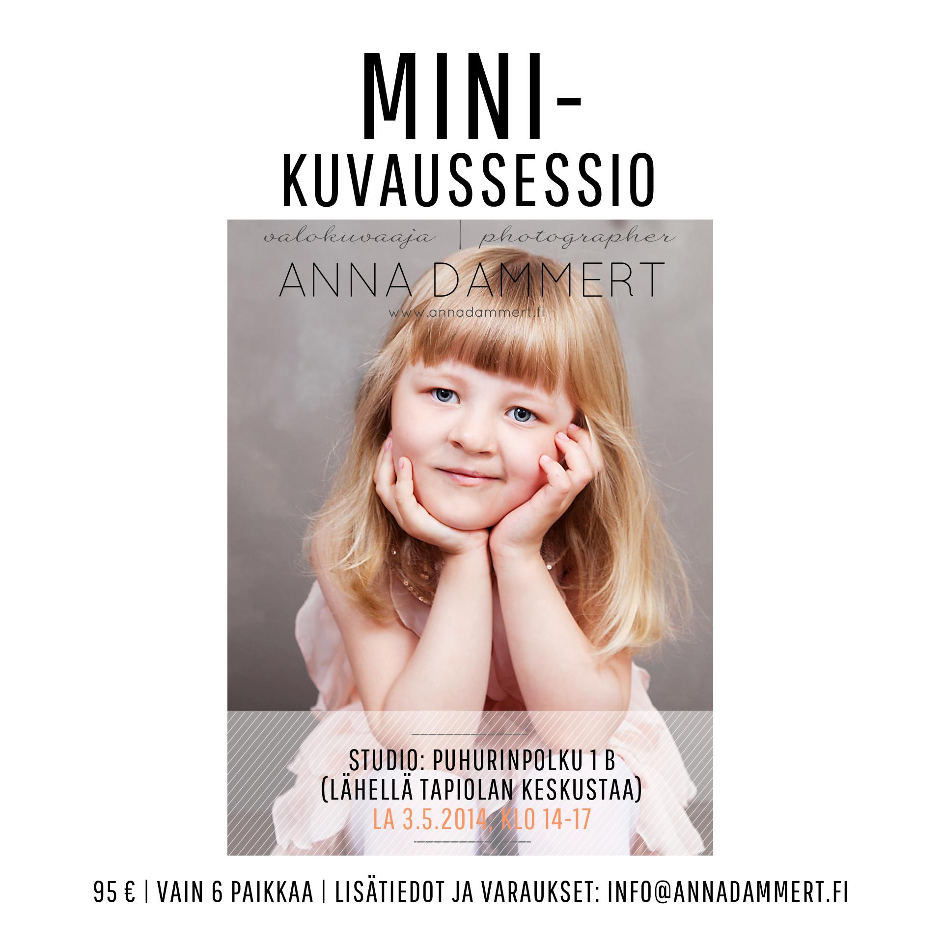 Valokuvaaja Anna Dammertin minikuvaussessiot lapsille
