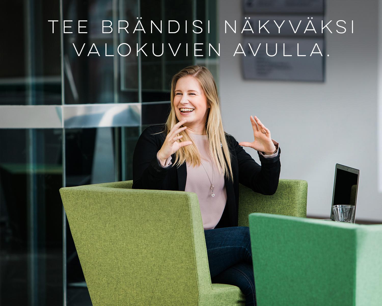 Valokuvaus yrityksen henkilöbrändiä varten valokuvaaja Anna Dammert Helsinki Espoo Vantaa